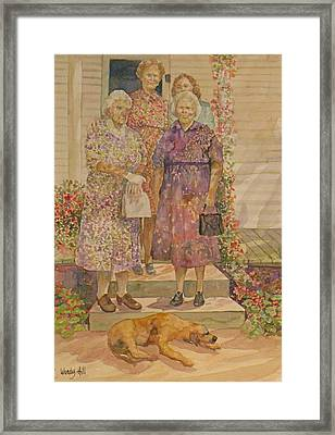 Generations Framed Print by Wendy Hill