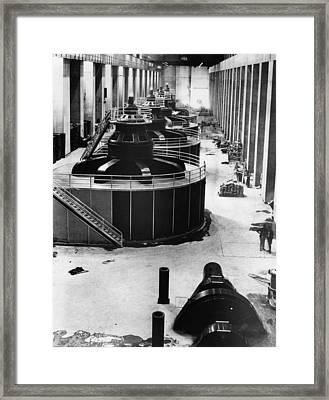 Generators At Hoover Dam Power House Framed Print
