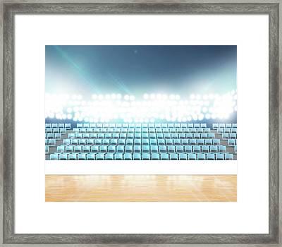 Generic Floodlit Stadium Framed Print