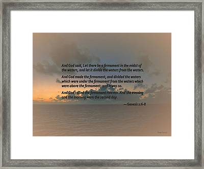 Genesis 1 6-8 Let There Be A Firmament In The Midst Of The Waters Framed Print