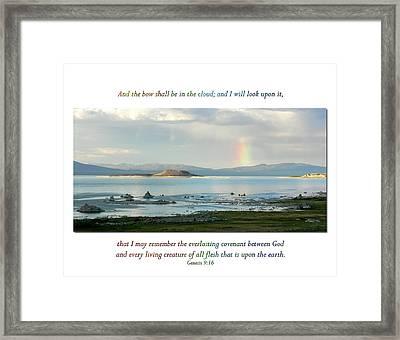 Genesis 9 Verse 16 Framed Print