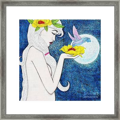 Framed Print featuring the mixed media Genesis by Natalie Briney