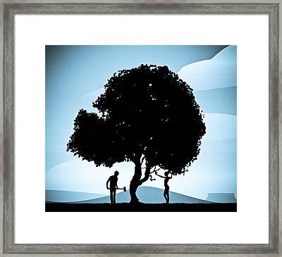 Genesis Revisited Framed Print by Nestor PS