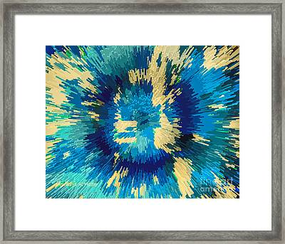 Genetically  Modified Dahlia Framed Print by Moustafa Al Hatter