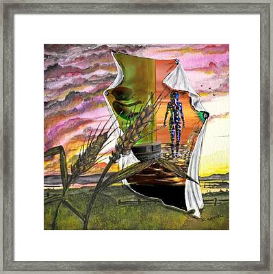 Framed Print featuring the digital art Genetically Modified by Darren Cannell