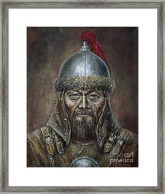 Genhis Khan Framed Print