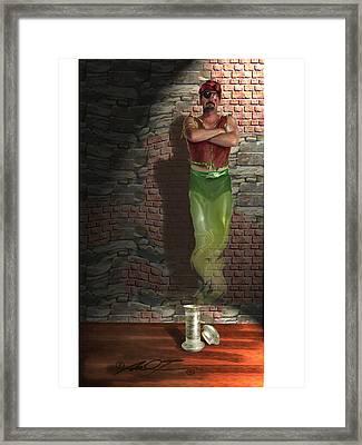Genie In A Bottle Framed Print