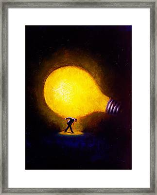 Genius Framed Print by Andrew Judd