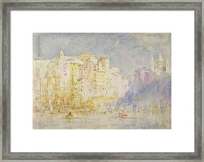 Genoa Framed Print by Henry Scott Tuke