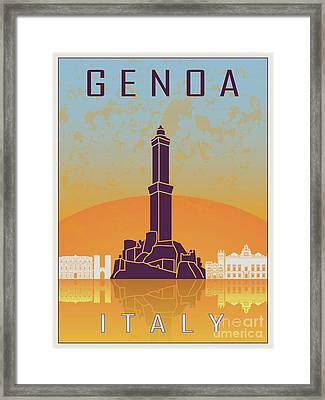 Genoa Vintage Poster Framed Print by Pablo Romero