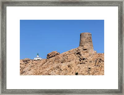 Genoese Tower L'ile Rousse - Corsica Framed Print