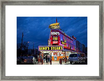 Geno's Steaks South Philly Framed Print by John Greim