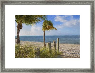 Gentle Breeze At The Beach Framed Print by Kim Hojnacki