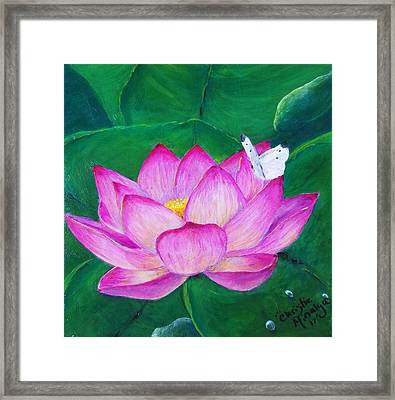 Framed Print featuring the painting Gentle  by Christie Minalga