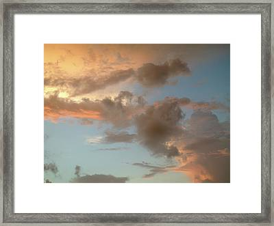 Gentle Clouds Gentle Light Framed Print