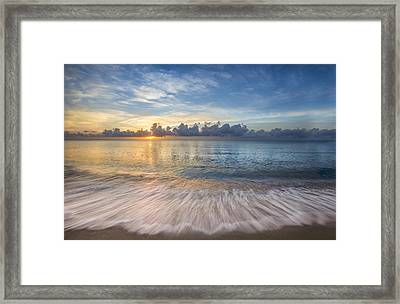 Gentle Dawn Framed Print by Debra and Dave Vanderlaan