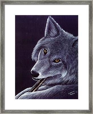Gentle Eyes Framed Print by Lorraine Foster