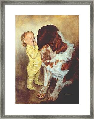 Gentle Giant Framed Print by Anita Carden
