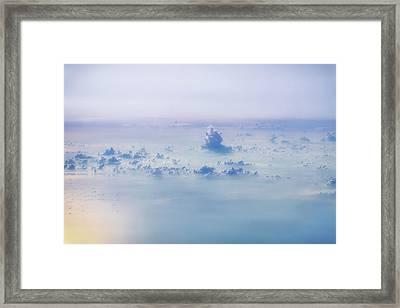 Gentle Haze Above The Sea Framed Print
