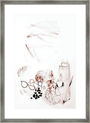 Gentle Still-life With Fruits - Watercolor Art By Gala Sofie Kuhn Framed Print by Gala Sofie Kuhn