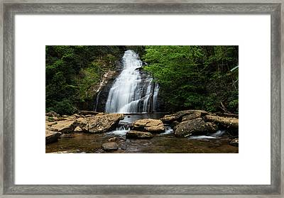 Gentle Waterfall North Georgia Mountains Framed Print