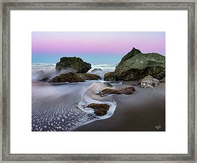 Gentle Waves Framed Print by Leland D Howard