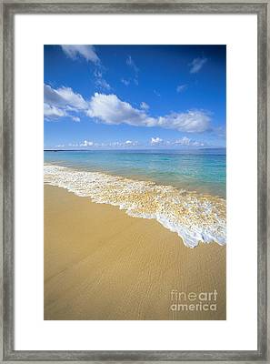 Gentle Waves Rolling Framed Print by Carl Shaneff - Printscapes