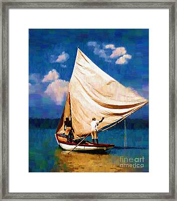 Gentle Winds Framed Print by Diane E Berry