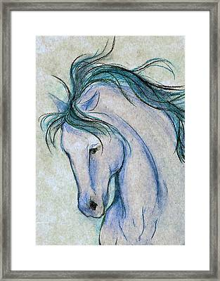 Gentleman In Blue Framed Print
