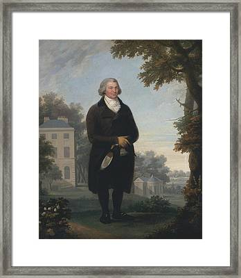Gentleman In The Grounds Of His House Framed Print