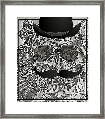 Gentleman Skeleton Skull Framed Print