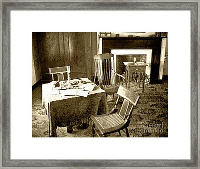 Framed Print featuring the photograph Gentlemen And Their Business by Pete Hellmann