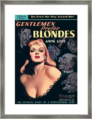 Gentlemen Prefer Blondes Framed Print