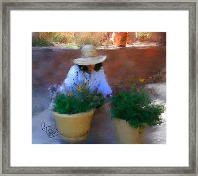 Gently Does It Framed Print by Colleen Taylor