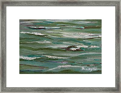 Gently Down The Stream Framed Print by Donna Blackhall