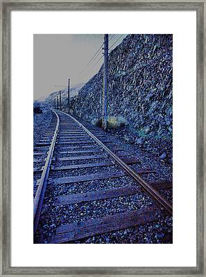 Framed Print featuring the photograph Gently Winding Tracks by Jeff Swan