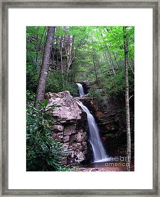 Gentry Creek - Double Falls Framed Print