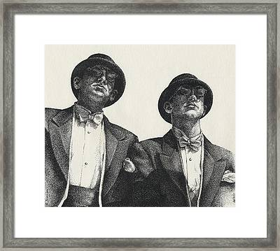 Gents Framed Print by Amy S Turner