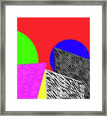 Geo Shapes 2 Framed Print by Bruce Iorio