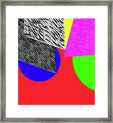 Geo Shapes 2a Framed Print by Bruce Iorio