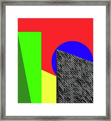 Geo Shapes 3 Framed Print by Bruce Iorio