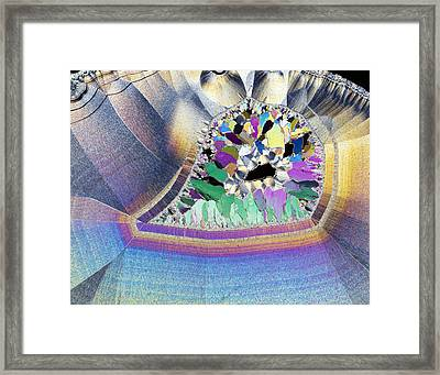 Geode In Thin Section Framed Print