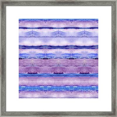 Geode Inspired Tribal Blanket Focal Striped Pattern In Watercolor Framed Print