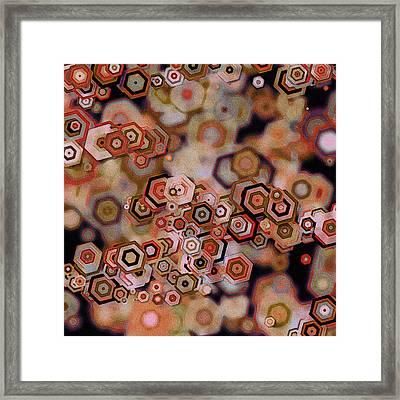 Geode Framed Print