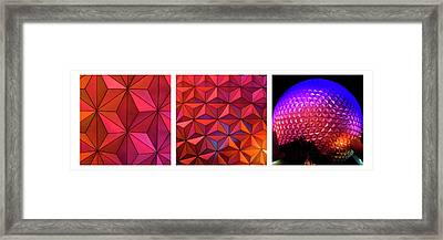 Framed Print featuring the photograph Geodesic Glow 2 by Christi Kraft