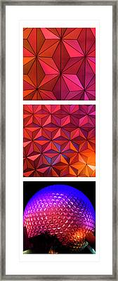 Framed Print featuring the photograph Geodesic Glow by Christi Kraft