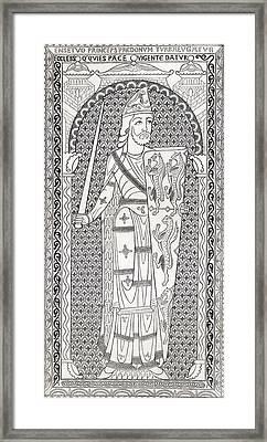 Geoffrey V, First Of The Plantagenets Framed Print