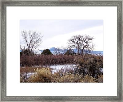 Geogia O'keefe's Pedernal Mountain Framed Print