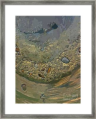 Geological Layers Seven Framed Print