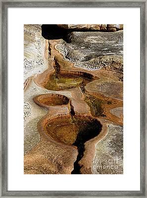 Geology - Rock Pools By Kaye Menner Framed Print